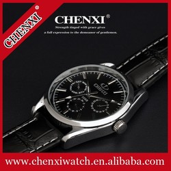 Promotion Genuine black cow leather ,fashion and luxury men's watch 006BML