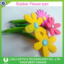Colorful Logo-customized Plastic Flower Ballpoint Pen