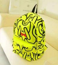 2014 nuevo estilo lindo mochila escolar para imprimir de nylon niñas mochila informal mochila escolar para niña