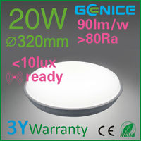 2D bulkhead LED ceiling light with motion sensor