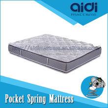 Double pillow Top 29cm high pocket spring mattress suppliers