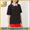 Contrast Collar Polo Top by Unique korean fancy ladies tops,ladies new stylish casual tops