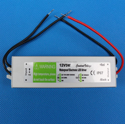 CE ROHS 24V 5W waterproof led driver ip67, 24V Constant Voltage led driver