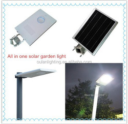 integrated solar led street light auto on at dusk & auto off at dawn low price solar lighting