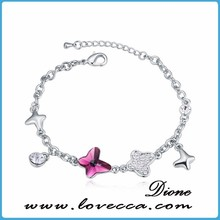 925 silver bracelet natural stone 2015 fashion with beautiful charms