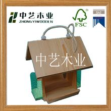 manufacturer natural wood small christmas cheap handmade hanging bird houses