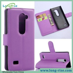 Cheap Price Wallet Magnetic Flip Stand Phone Case for LG Leon C40 with Card Holder
