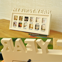 My first year collage picture frame, wood collage picture frame