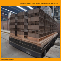 Automatic brick production line red solid hollow block coal fried brick tunnel kiln