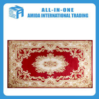 High quality light weight red flowers pattern carpet for home