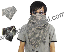 Military tactical airsoft camo mesh scarf for war games