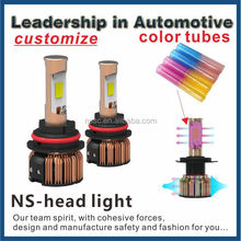 Good news!2015 hot sale popular design low factory price good quality color tubes LED head light for car,motorcycle and working