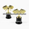 caliente venta de plástico de fabricación personalizada ensamblado personalizado en forma de moda de oro barato trofeo