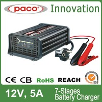 7 stages automatic battery charger 12v 60ah lead acid batteries, with CE,CB,RoHS certificate