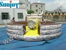 2014 Sunjoy Inflables toro mecánico para la venta Precio toro de rodeo mecánico anillo inflable toro mecánico inflable