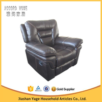 Golden quality china furniture living room sofa , modern leather office recliner sofa design