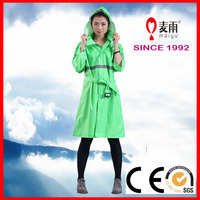 100% Polyester impermable safety rain poncho for girl