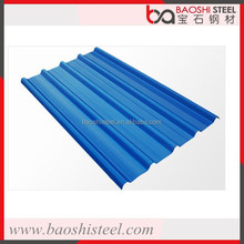Baoshi Steel wholesale cheap decorative color coated corrugated metal roof tile
