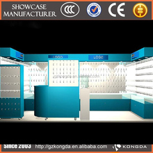 standard back cabinet wooden and acrylic showroom display for makeup store KD-W-BK-320