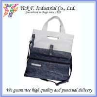 Laptop Compartment Fashionable Denim Tote bag