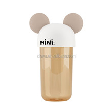 2015 new Plastic funny ears cap promotional water bottle