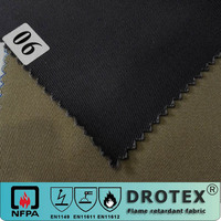 NFPA2112 high quality cotton fireproof twill fabric for arc flash garment