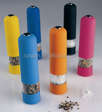 Colorful electric Pepper salt Mill/Single hand operation