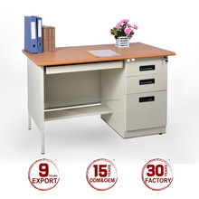 Modern steel office furniture type home office desk with locking drawers