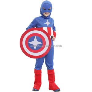 2016 Capitán América cosplay traje de halloween para los niños