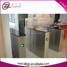 Access control TCP/IPsecurity remote control and card reader full height office sliding turnstile barrier