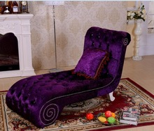 Royal Style Purple Color Fashion Designs Sex Chair Lounge Chairs European Style French Chaise Lounge
