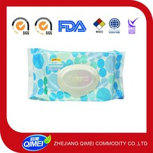 super soft baby wipes with plastic cover with aloe vera and vitamin E
