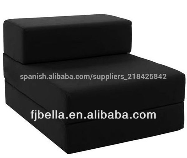 De algod n individual plegable silla sof cama de for Sofa cama individual plegable mexico