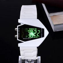 LED Watch 2015 New Women Men Lovers Black White Fashion Digital Wholesale Watch Silicone Jelly stylish Rectangle Wristwatch Hour