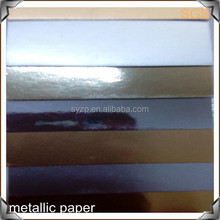 glossy metallized/metallic/aluminum foil paper board/paper products for packing