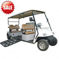 New Condition ce approved Electric handicapped car, with hydraulic ramp for wheelchair chinese golf carts handicapped