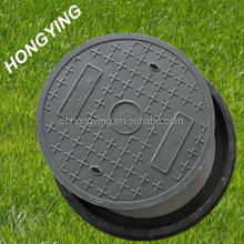 Round plastic sewer manhole