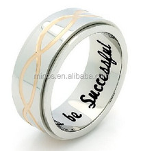 Infinity Spinner Ring, Promise Ring Infinity Symbol Ring Always Be Successful Engraved on Inside