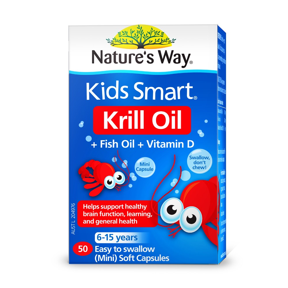 Natures way kids smart krill oil fish oil vitamin d 50 for Fish oil for toddlers speech delay