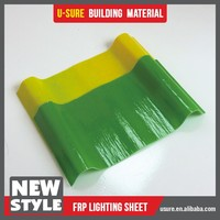 Heat insulation roof covering material FRP sheet