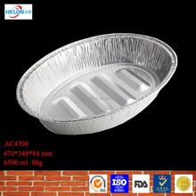 aluminium foil container, oval aluminum foil turkey pan, big elliptic baking tray