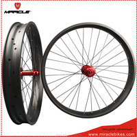 190/197mm thru axle carbon fat bike wheels,80mm full carbon fat bicycle wheels