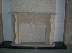 China yellow marble fireplace mantel China marble gas fireplace China golden marble fireplace