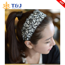 New Korean Fashion Women Hair Accessories Elegant Lace Embroidery Headband Rose Hair Hoop Holder Hairbands For Girls