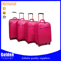 long holiday happy trip suitcase boys and girls fashion style trolley luggage suitcase 4 wheels luggage trolley