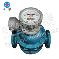 mechanical liquid helical rotor oilfield flow meter&heavy oil fuel rotor flow meter