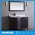 Homedee moderna forma Irregular sólido de madera de la vanidad de baño, Productos de baño con espejo