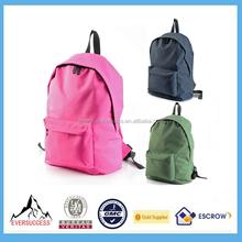 2015 Fashion Unisex Plain Backpack Simple Hiking Travel School Bag