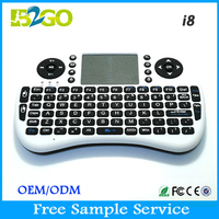 Hot RII Mini i8 2.4g mini fly air gyro mouse wireless keyboard with touchpad