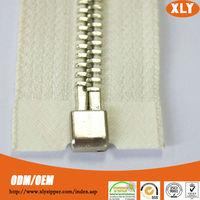 High quality strong zipper teeth metal zipper with zipper insertion pin